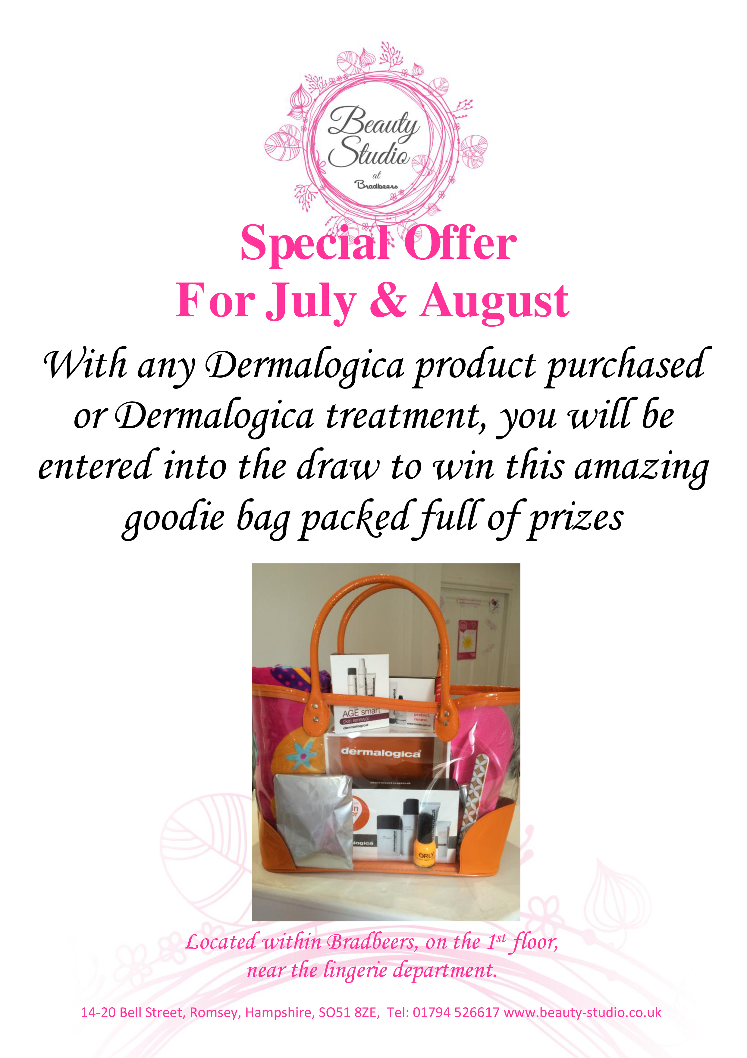 7. 8 July and August goodie bag prize