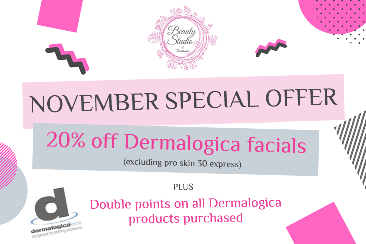 Special Offer for November 20% off Dermalogica